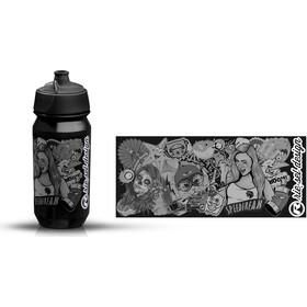 rie:sel design bot:tle 500ml stickerbomb ultra black | black